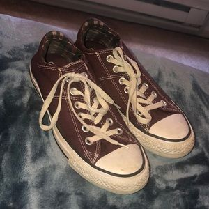 Red Converse Shoes- Women's Size 8